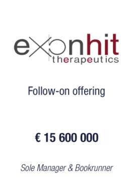 ExonHit Therapeutics tombstone