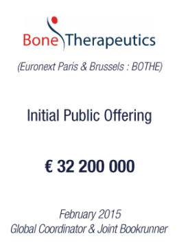 Bone Therapeutics 2015 tombstone