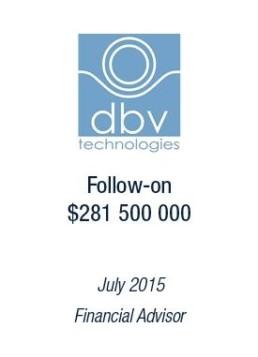 DBV Technologies tombstone