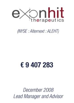 ExonHit Therapeutics 2008 tombstone